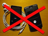No Mp3 player or mobile phone at school