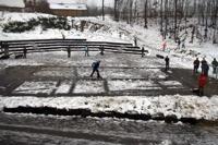 Schneefussball