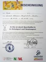 Sporthelfer-Urkundey