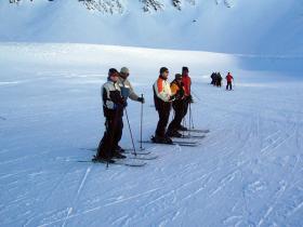 Eine der Skigruppen.