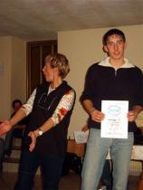 Die Urkunde für den besten Skifahrer - Applaus!