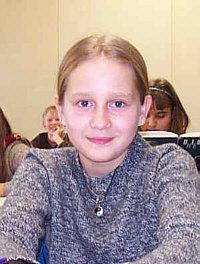 Anna, Schulsiegerin Klasse 5