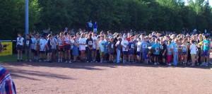Das Starterfeld vor dem Start beim KAS Lauf 2001