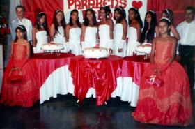 Marcela und die anderen bei der Feier