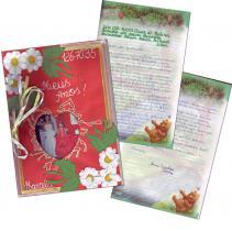 Briefumschlag und Seiten