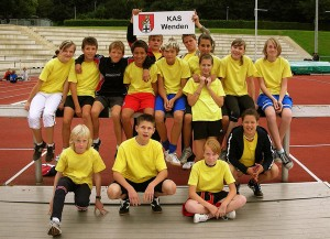 Die Mannschaft beim Wettkampf in Paderborn