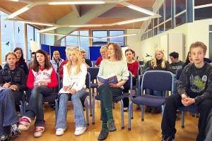 Renate Schoof mit den Lesern