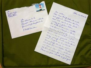 Brief und Umschlag von Frau Schoof