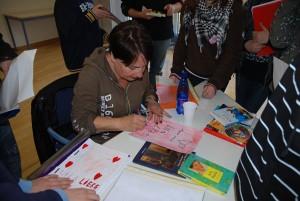 Autogrammstunde mit Frau Steenfatt