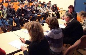 Die Jury und Julia Kaufmann