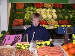 Beim Obst- und Gemüsehändler
