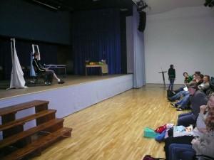 Bühne und Zuschauer