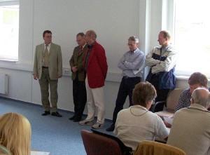 Wehler, Brüser, Olberts, Schneider und Grebe (von links)