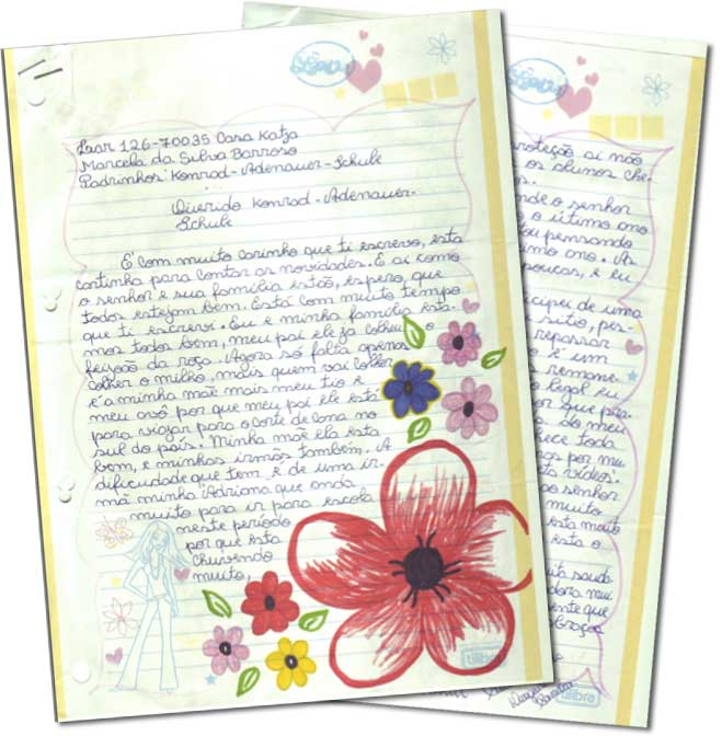 Briefe Gestalten Jepang : Ein brief von unserem patenkind marcela aus brasilien